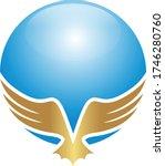 eagle sphere globe logo design... | Shutterstock .eps vector #1746280760