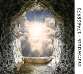 light at end of the tunnel.  | Shutterstock . vector #174628973