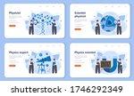 physicist web banner or landing ... | Shutterstock .eps vector #1746292349