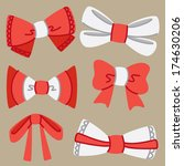 set of cute ribbon | Shutterstock . vector #174630206