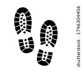 human footprints icon. traces... | Shutterstock .eps vector #1746304406