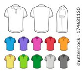 polo in various colors. | Shutterstock .eps vector #174631130