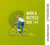 world bicycle day concept.  men ... | Shutterstock .eps vector #1746330146