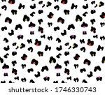 seamless texture leopard print... | Shutterstock .eps vector #1746330743
