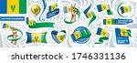 vector set of the national flag ... | Shutterstock .eps vector #1746331136
