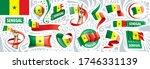 vector set of the national flag ... | Shutterstock .eps vector #1746331139