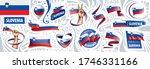 vector set of the national flag ... | Shutterstock .eps vector #1746331166