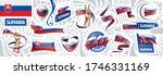 vector set of the national flag ... | Shutterstock .eps vector #1746331169