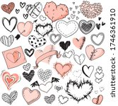 Heart Sketches. Doodle Heart...