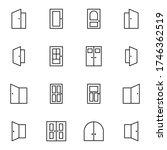 door icon set. simple login ... | Shutterstock .eps vector #1746362519
