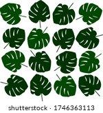 tropical leave modern flat... | Shutterstock .eps vector #1746363113