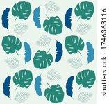 tropical leave modern flat... | Shutterstock .eps vector #1746363116