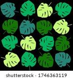 tropical leave modern flat... | Shutterstock .eps vector #1746363119