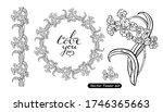 vector  flowers set ... | Shutterstock .eps vector #1746365663