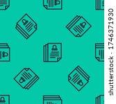 blue line death certificate... | Shutterstock .eps vector #1746371930