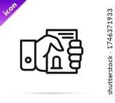 black line death certificate in ... | Shutterstock .eps vector #1746371933
