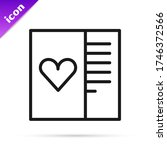 black line postcard with heart...   Shutterstock .eps vector #1746372566