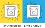 set line calendar party icon... | Shutterstock .eps vector #1746373829