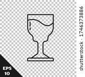 black line wine glass icon... | Shutterstock .eps vector #1746373886