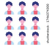 set of male avatars with...   Shutterstock .eps vector #1746374300