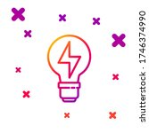 color line light bulb with... | Shutterstock .eps vector #1746374990
