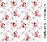 vector abstract floral seamless ... | Shutterstock .eps vector #1746382379