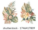 Watercolor Composition Of Drie...