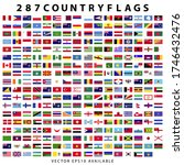 285 plus world country flags.... | Shutterstock .eps vector #1746432476