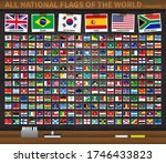 all national flags of the world ... | Shutterstock .eps vector #1746433823