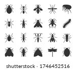 insect black glyph icons set.... | Shutterstock .eps vector #1746452516