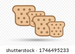 toaster bread vector icon on... | Shutterstock .eps vector #1746495233