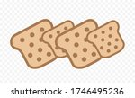 toaster bread vector icon on... | Shutterstock .eps vector #1746495236
