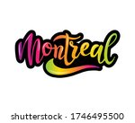 montreal city name text with... | Shutterstock .eps vector #1746495500