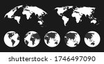 accurate vector world map ... | Shutterstock .eps vector #1746497090