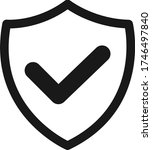 secure icon  protection granted ... | Shutterstock .eps vector #1746497840