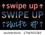 swipe up text effect template...