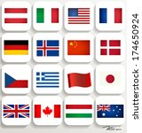 world flags. vector... | Shutterstock .eps vector #174650924