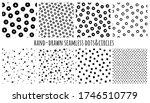 set of hand drawn seamless... | Shutterstock .eps vector #1746510779