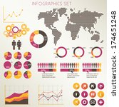 infographics elements set  ... | Shutterstock .eps vector #174651248