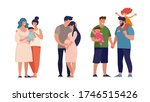 a set of lgbt couples and... | Shutterstock .eps vector #1746515426