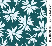 floral background with daisies. ...   Shutterstock .eps vector #1746518129