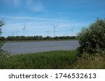 Wind Farm On The Banks Of The...