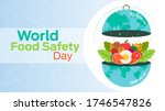 world food safety day on june 7   Shutterstock .eps vector #1746547826