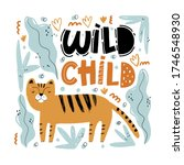 Wild Child. Cute Hand Drawn...
