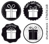 gift box icon. vector set ... | Shutterstock .eps vector #174656168
