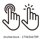 hand pointer  clicking icon set ... | Shutterstock .eps vector #1746566789