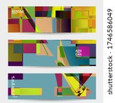 abstract vector banner template.... | Shutterstock .eps vector #1746586049