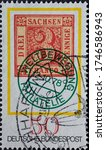 Germany   circa 1978  a postage ...