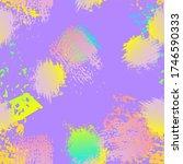 hand drawn grunge surface.... | Shutterstock .eps vector #1746590333