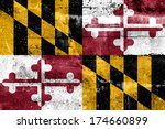 maryland state flag painted on... | Shutterstock . vector #174660899